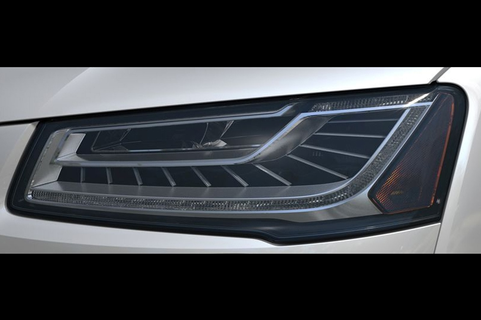 Audi A8 Headlights : Audi teases a facelift by showing new matrix