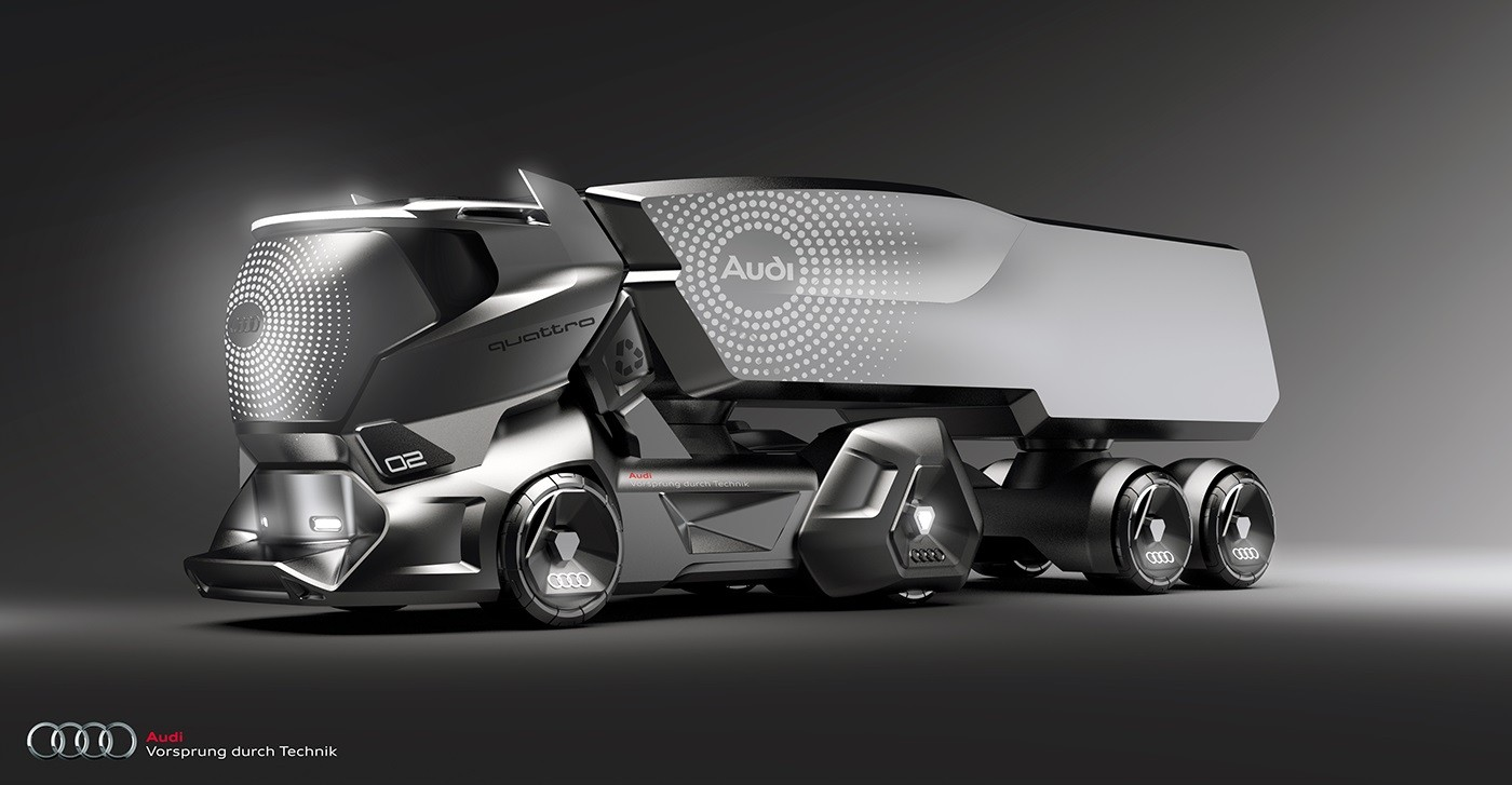 Audi Themed Hmv Concept Makes The Tesla Semi Look Obsolete