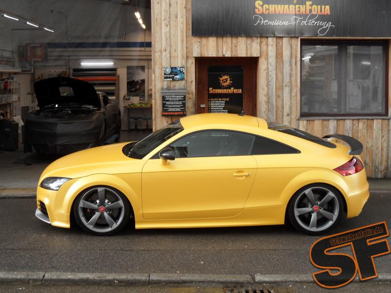 Audi Tt Rs Gets Sunflower Yellow Metallic Wrap Autoevolution