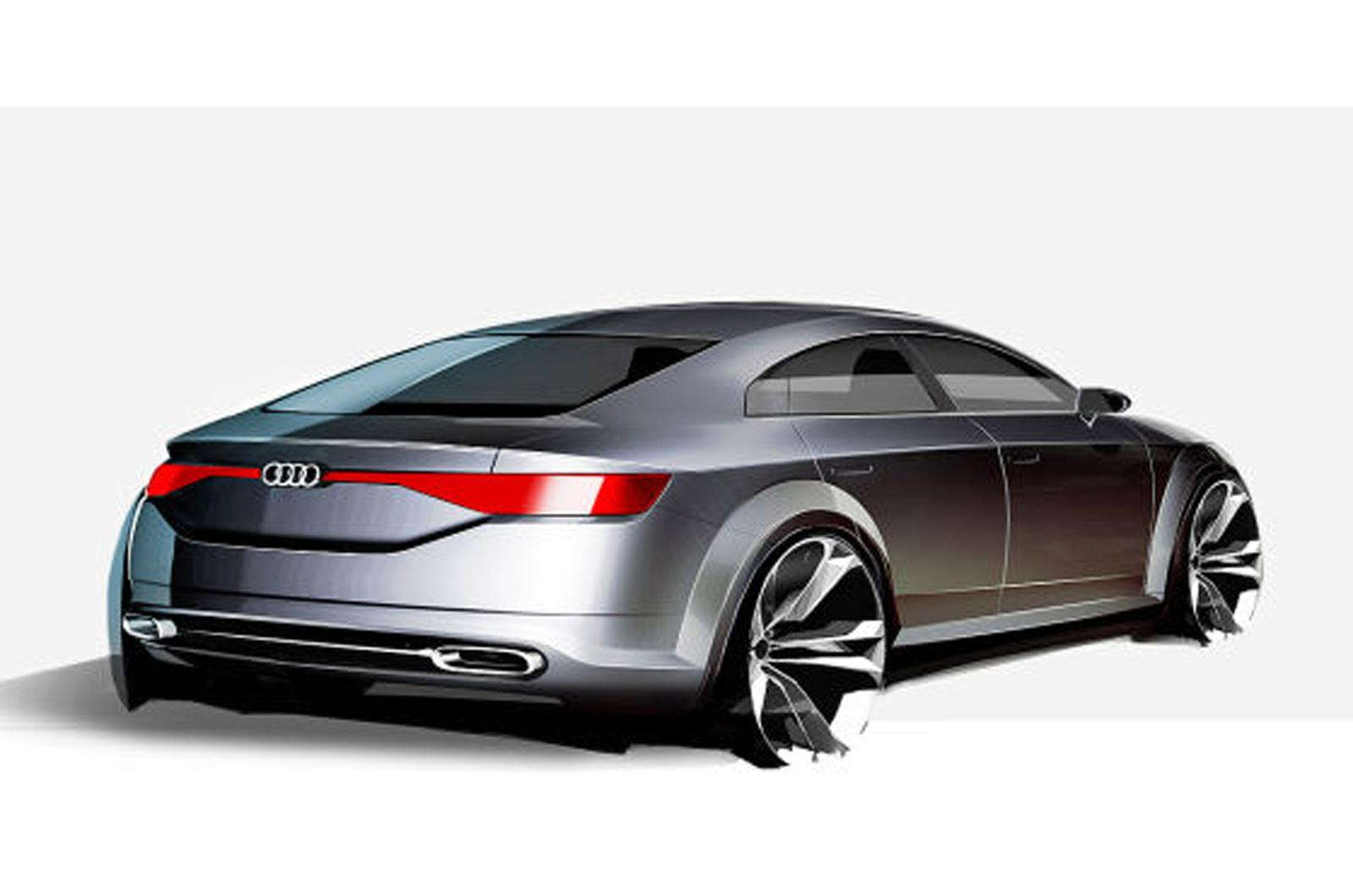 audi tt sportback concept sketch emerges ahead of alleged paris debut updated autoevolution. Black Bedroom Furniture Sets. Home Design Ideas