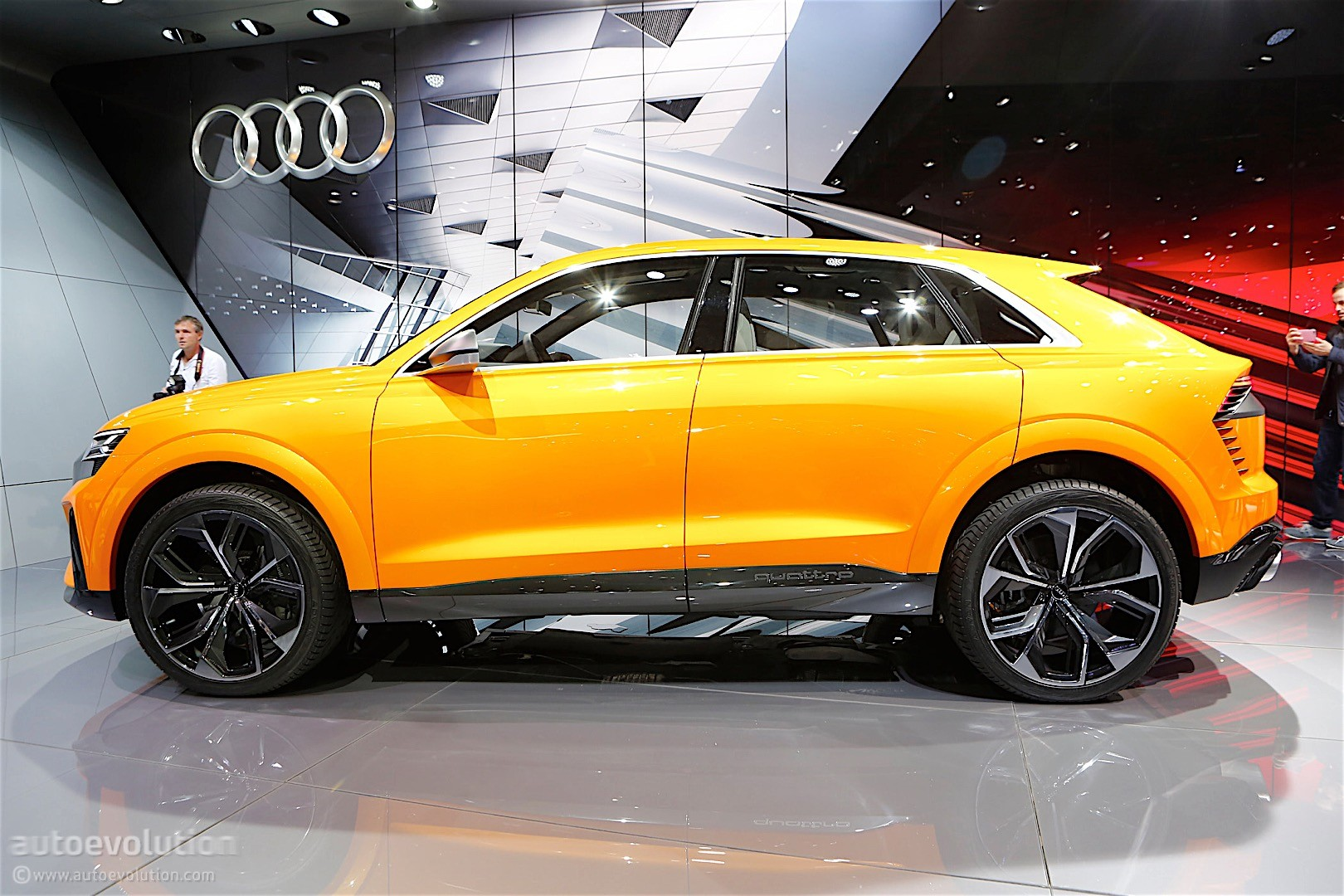 audi unveils q8 sport concept a mild hybrid with 476 hp and a 745 mile range autoevolution. Black Bedroom Furniture Sets. Home Design Ideas