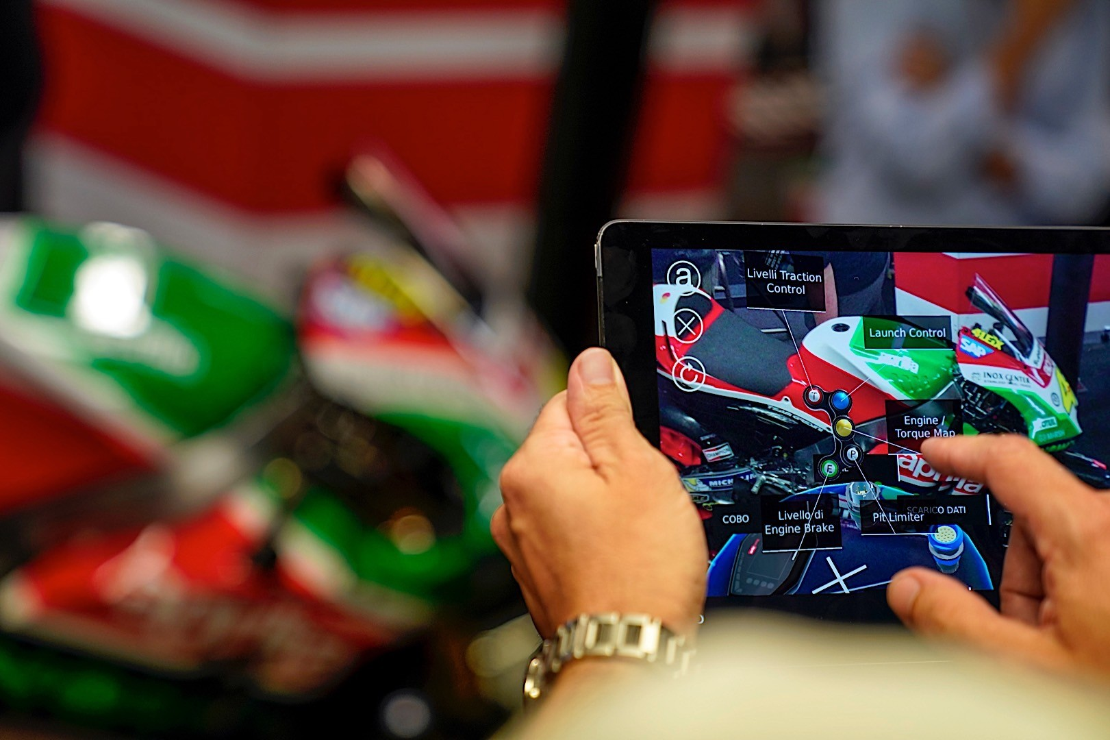 4f3298587784 Aprilia Racing Steps into the Future with Augmented Reality in their ...