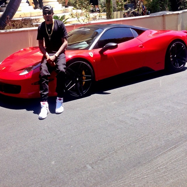 August Alsina And Nicki Minaj Join Forces Ferrari 458 And
