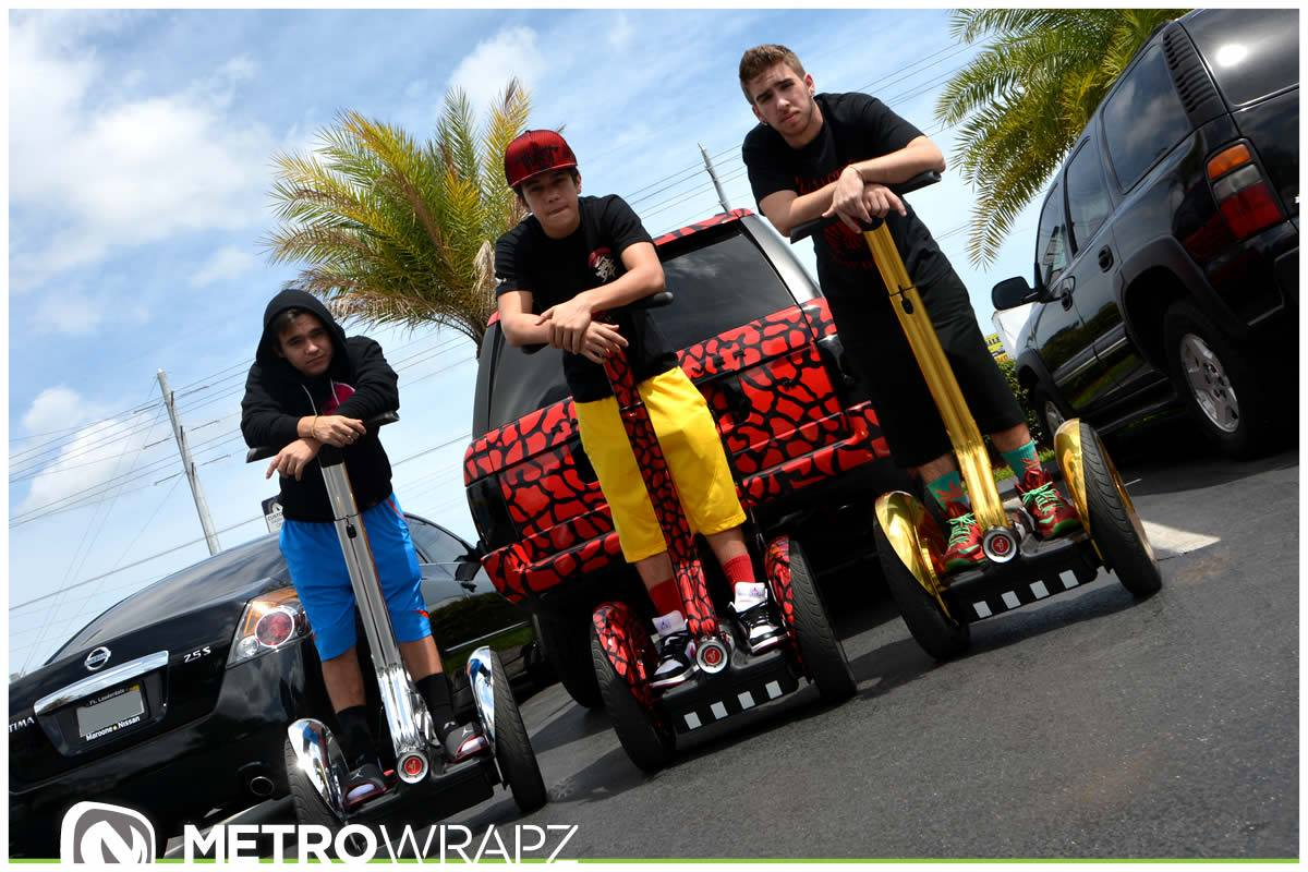 Austin Mahone Gets Chrome Segway Collection to Match Cars ...
