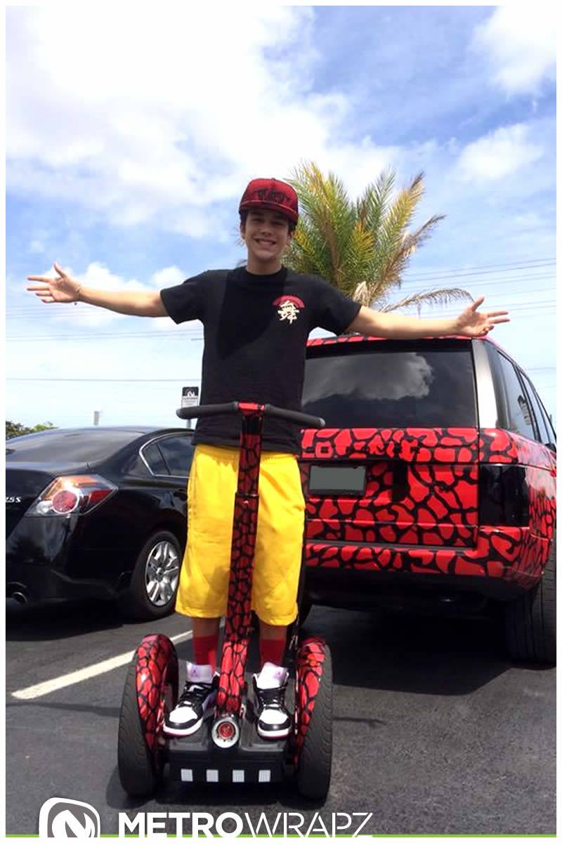 Austin Mahone Gets Chrome Segway Collection To Match Cars