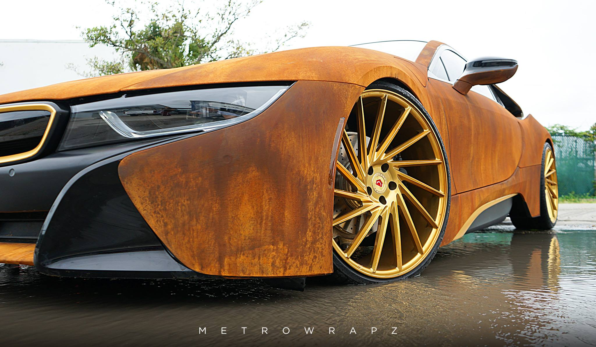 Austin Mahone S Rust Wrap Bmw I8 Looks Amazing Autoevolution