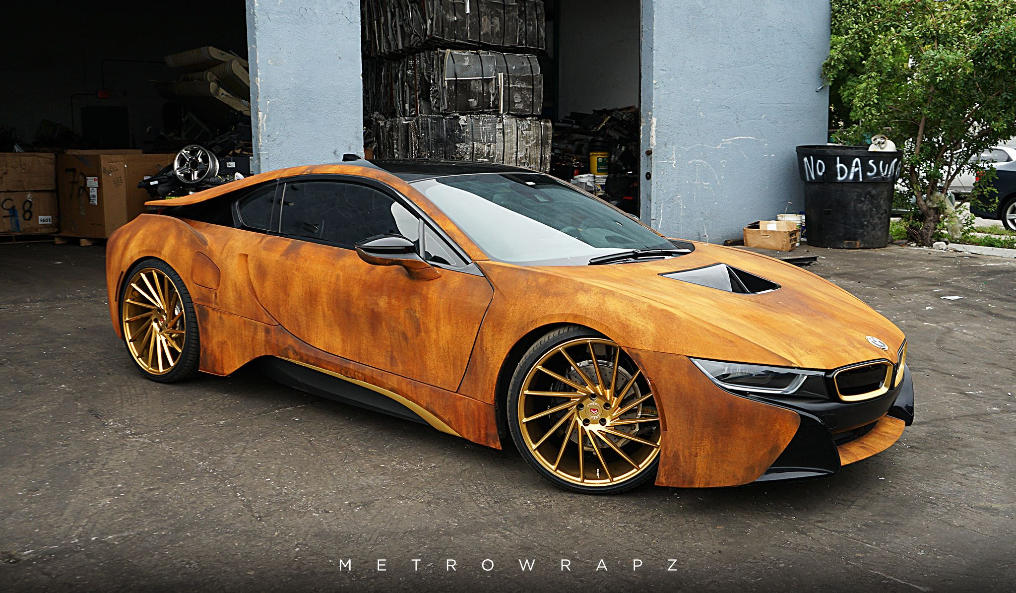 Austin Mahone S Rust Wrap Bmw I8 Looks Amazing Autoevolution