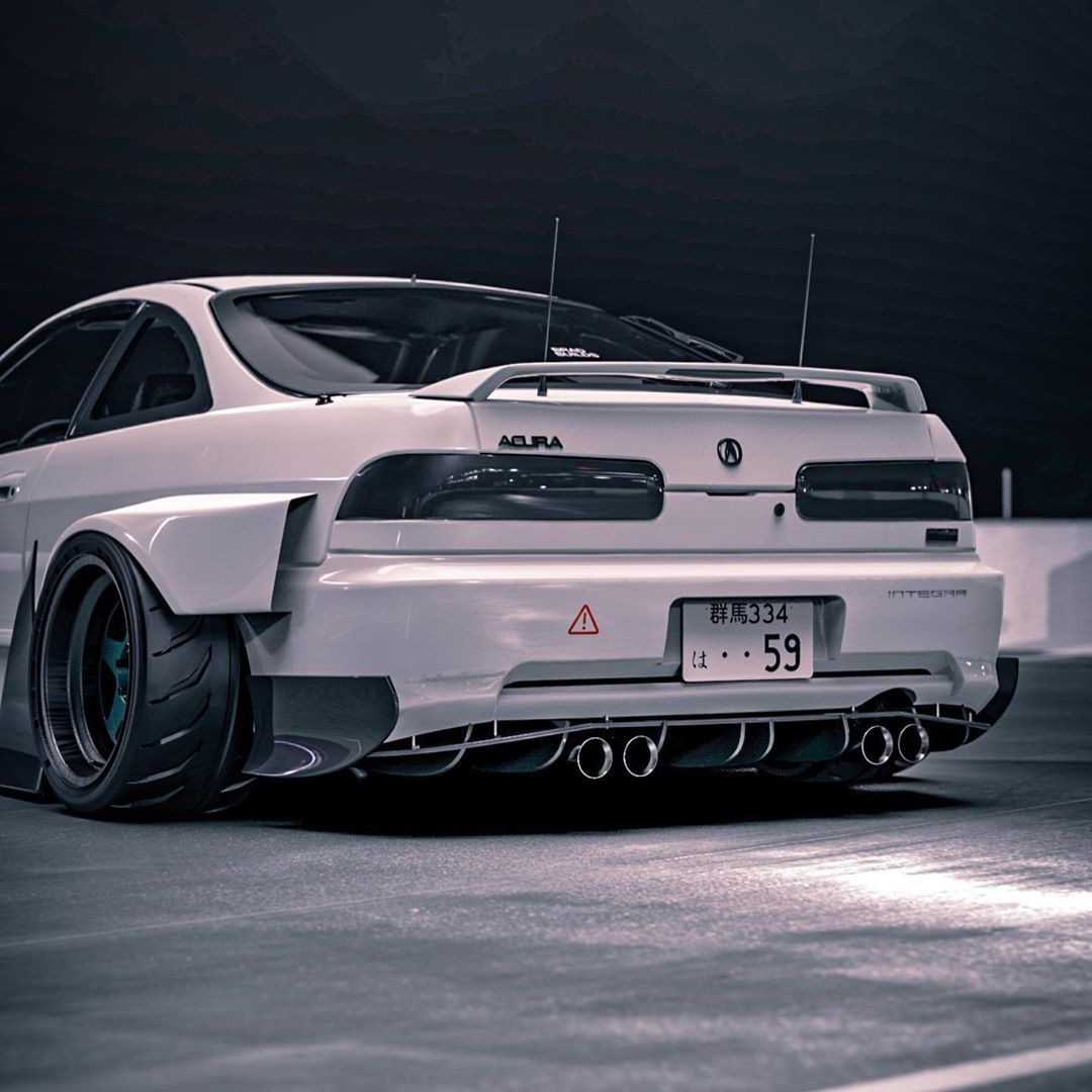 "AWD Acura Integra Type-R ""White Bunny"" Widebody Makeover"
