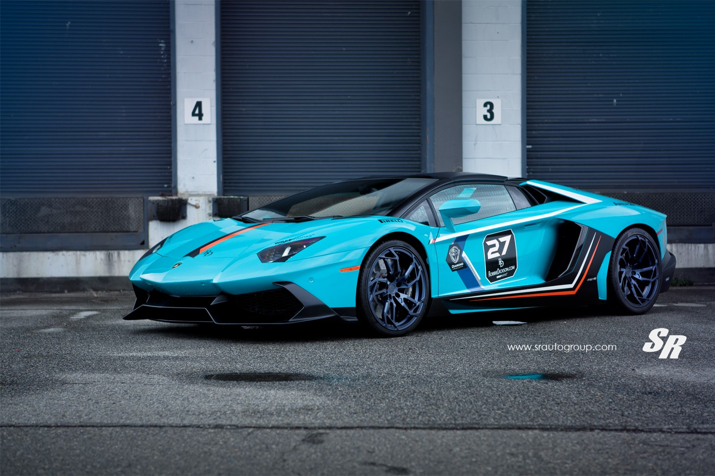 Baby Blue Lamborghini Aventador Gets Pur Wheels Lp720 Body Kit Autoevolution
