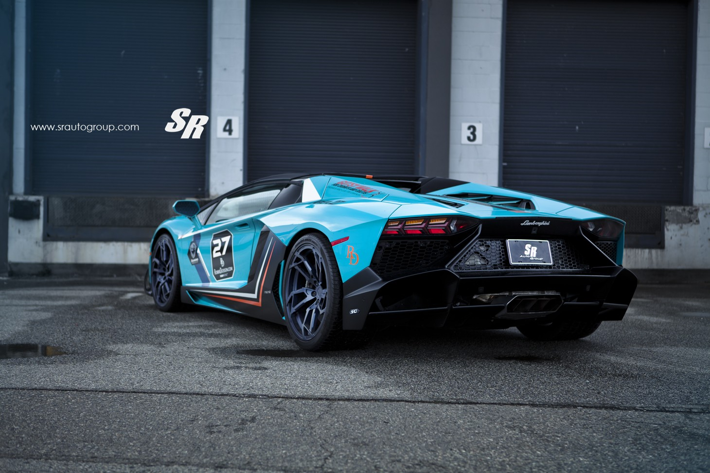 Baby Blue Lamborghini Aventador Gets Pur Wheels Lp720