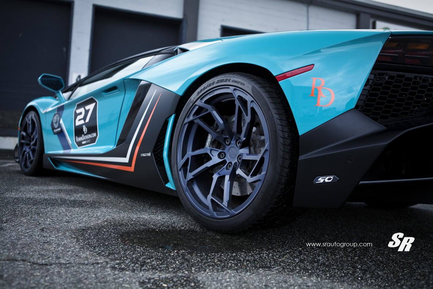 Baby Blue Lamborghini Aventador Gets Pur Wheels Lp720