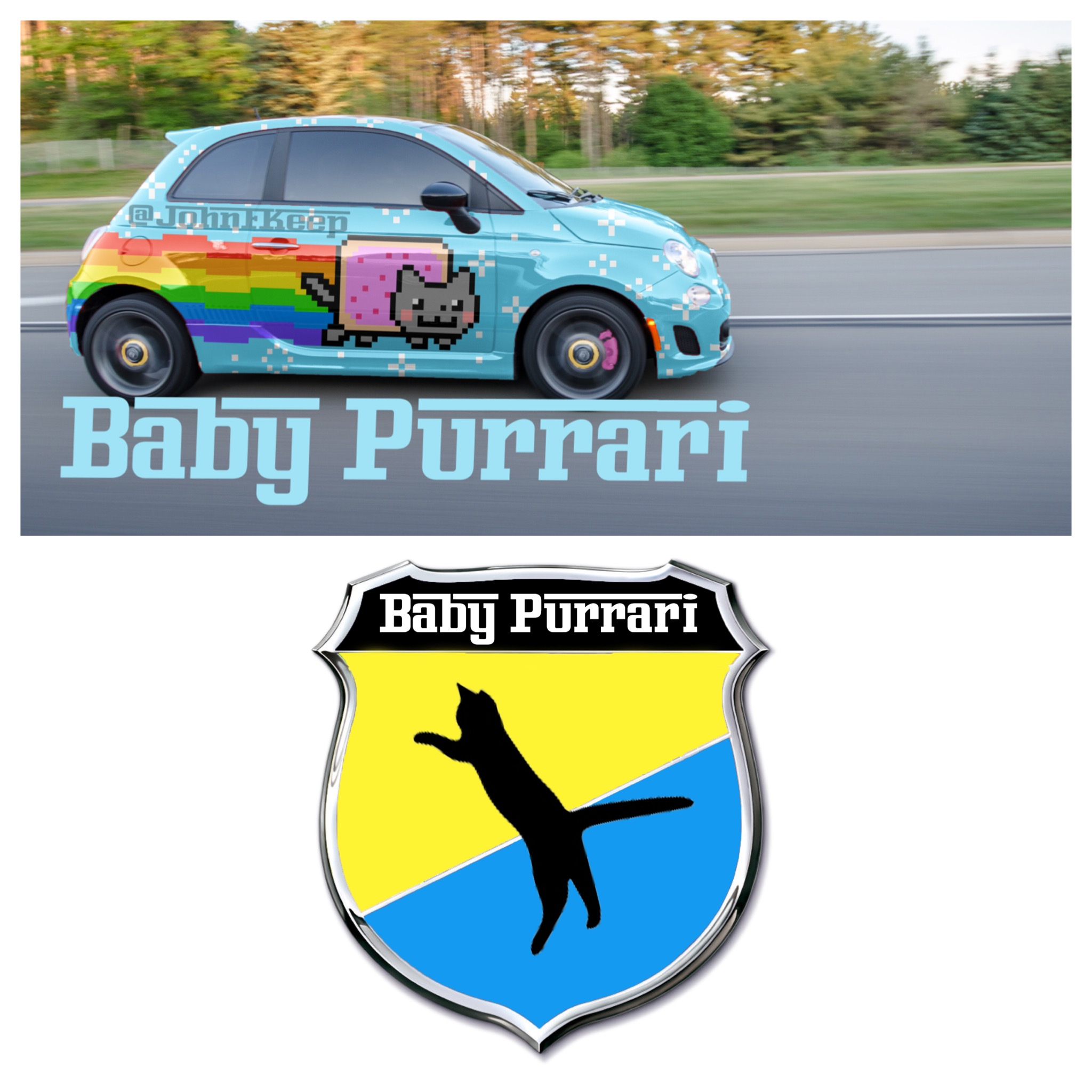Baby Purrari Abarth Rendering Is Digitally Trolling ...