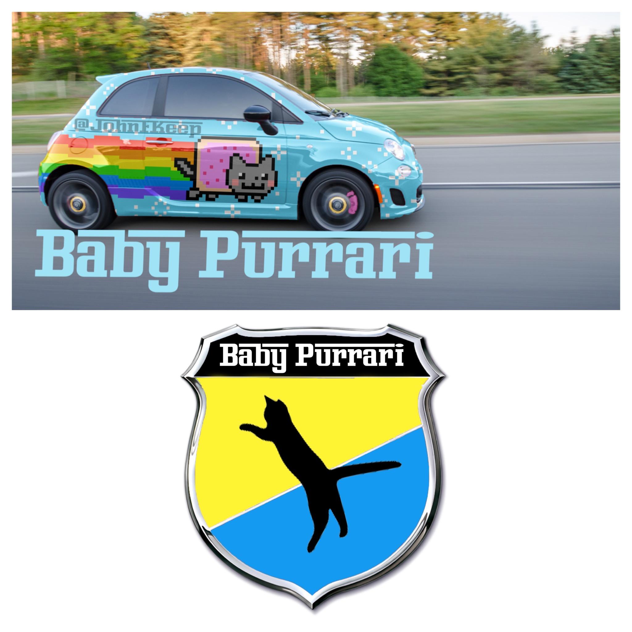 Baby Purrari Abarth Rendering Is Digitally Trolling