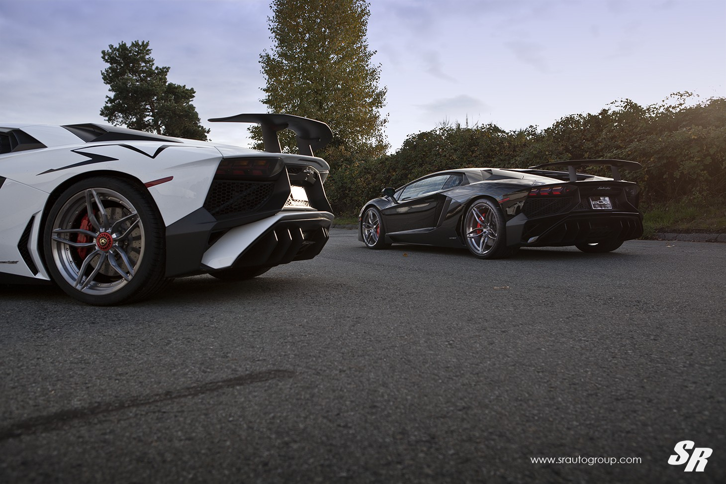 back-to-back lamborghini aventador sv twins sport pur wheels