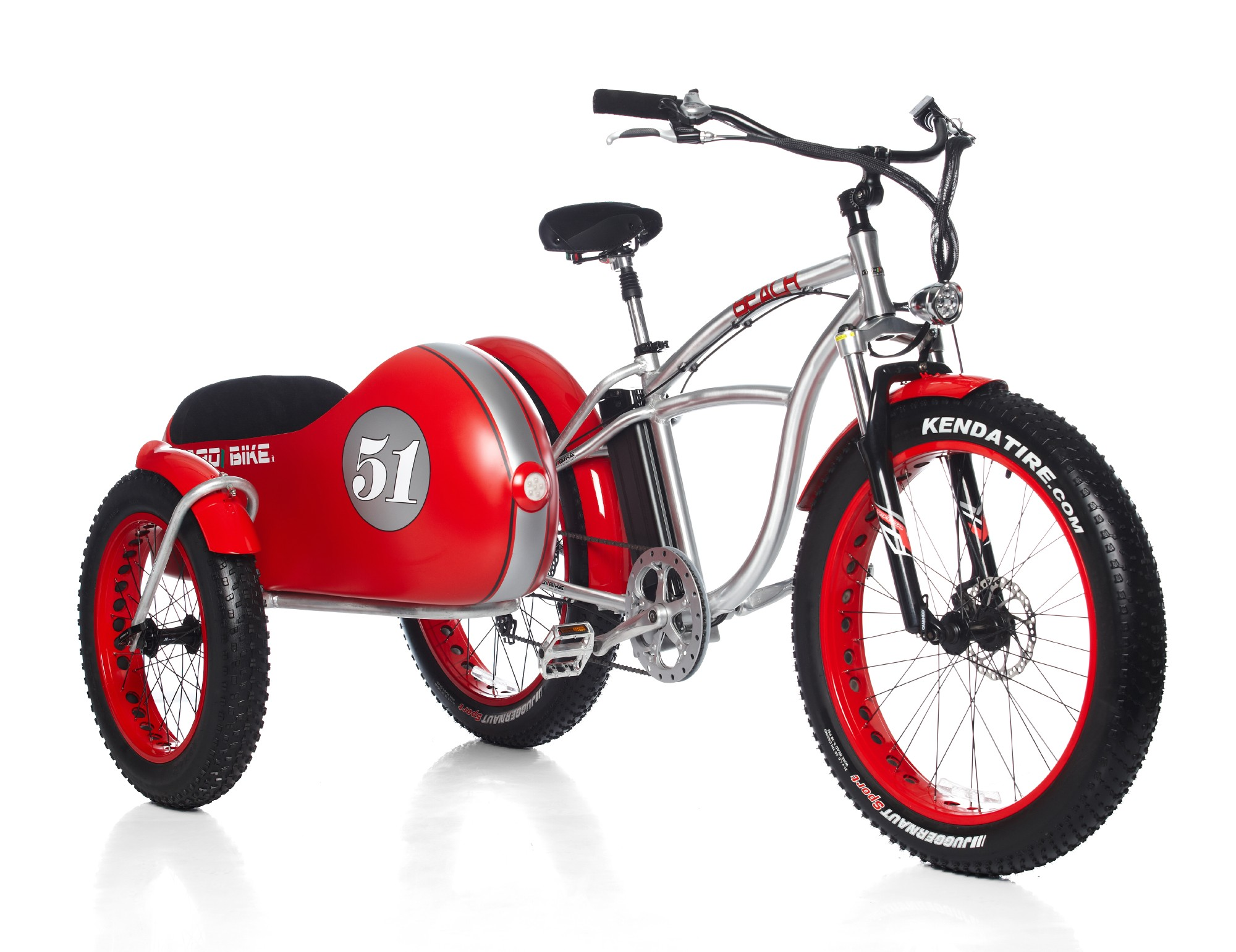 Bad Bike Beach Vintage Fat the Electric Sidecar Bicycle