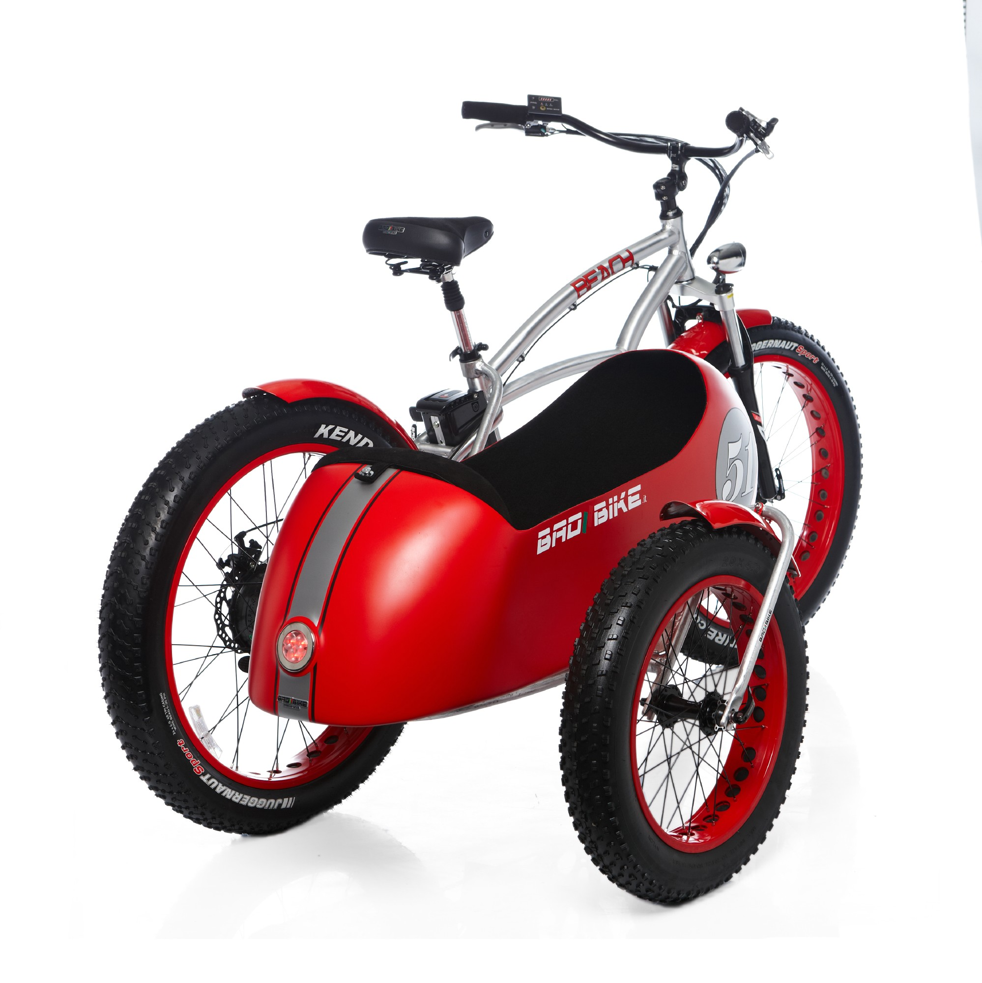 Bad Bike Beach Vintage Fat The Electric Sidecar Bicycle Looks So Bmw
