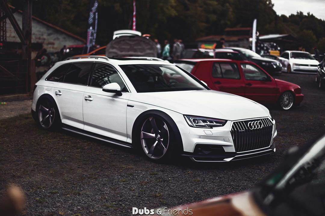 bagged audi a4 allroad on rs wheels is a statement autoevolution. Black Bedroom Furniture Sets. Home Design Ideas
