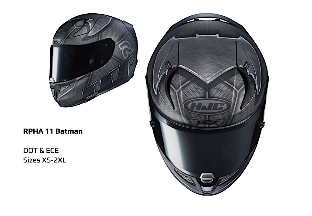 Hjc Rpha 11 >> Batman and The Flash Get Dedicated HJC Motorcycle Helmets ...