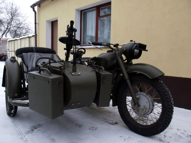 Ford Car Parts Battle-Ready 1963 Ural Sidecar, Complete with Gun Carriage ...
