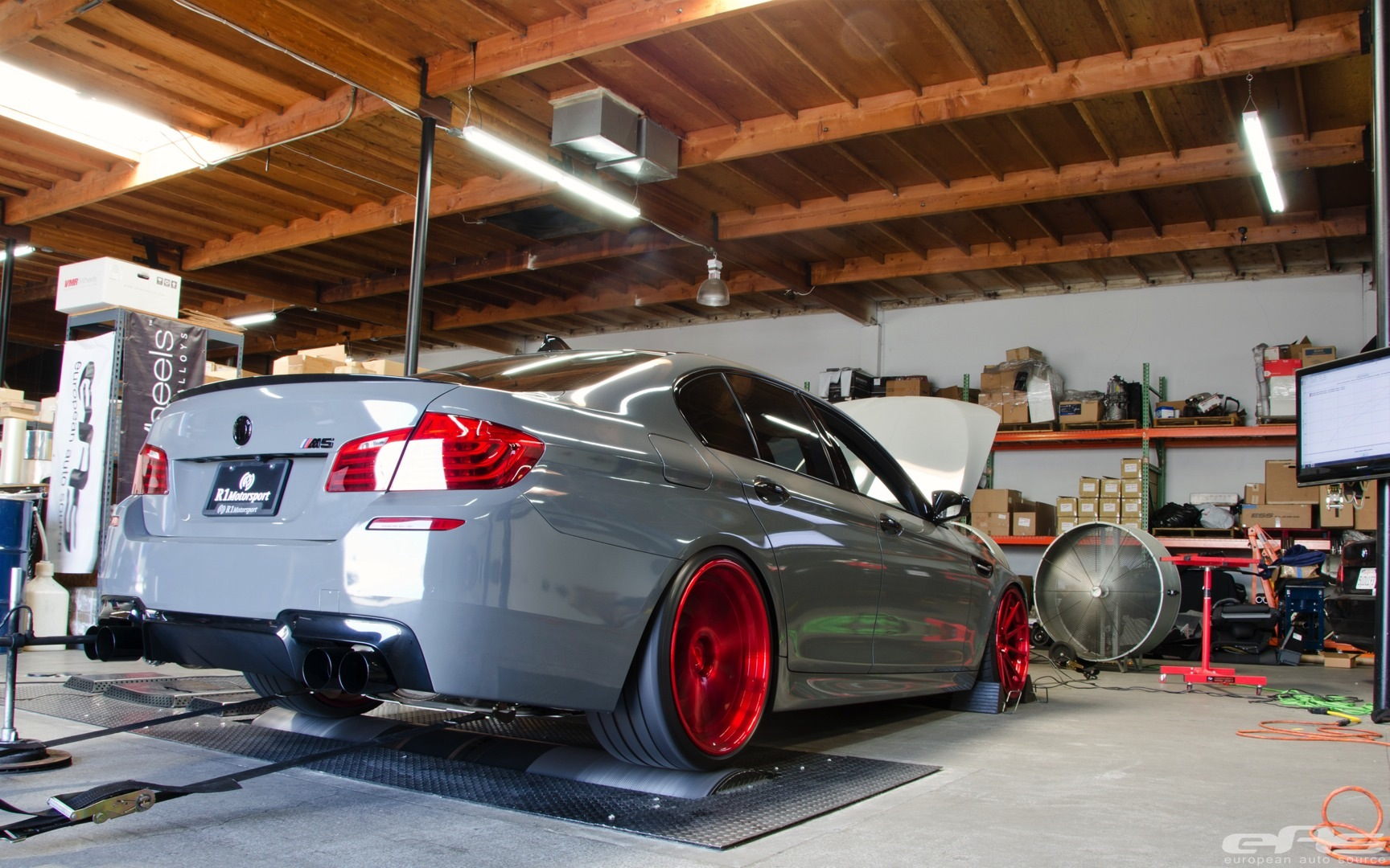 Battleship Gray Bmw F10 M5 Jumps On Dyno Autoevolution