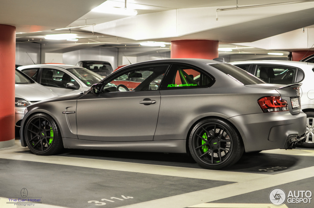 Beautiful Matte Grey Bmw 1m Coupe Spotted In Germany