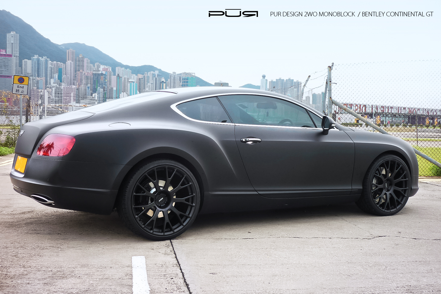 Bentley Continental Gt In Matte Black Rides On Pur Wheels