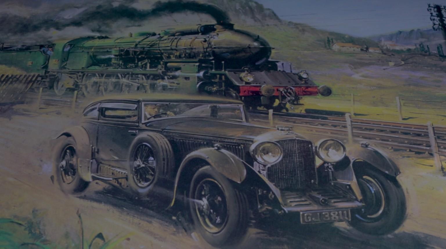 Bentley Continental Gt Races Saudi Arabia S Desert Train In Train Blue Race Reenactment