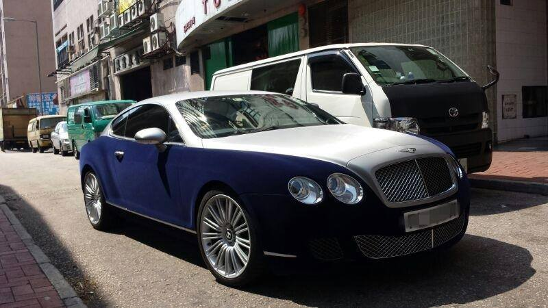 Bentley Continental Gt Wrapped In Blue Velvet Autoevolution