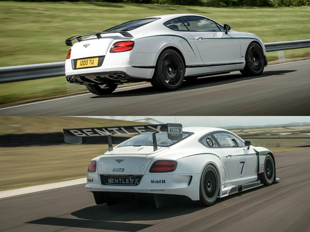 Bentley Continental Gt3 R Vs Gt3 Racecar Comparison How