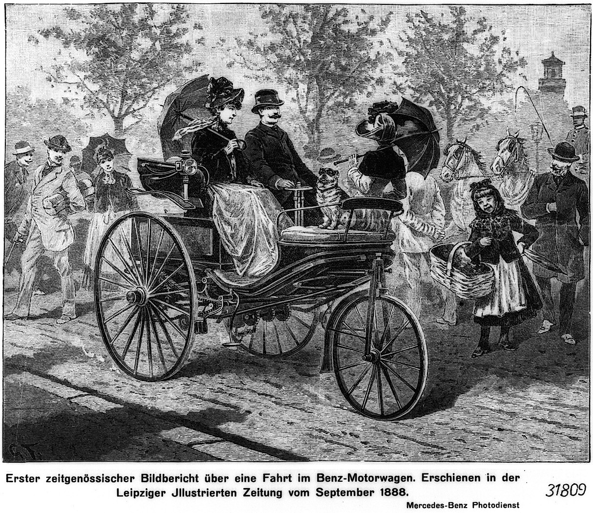 The World S First Automobile The Benz Patent Motorwagen: Bertha Benz Gets Inducted Into The Automotive Hall Of Fame