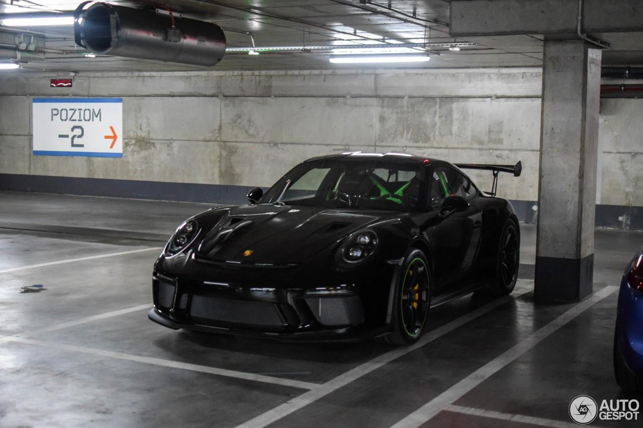 Black 2019 Porsche 911 Gt3 Rs With Lizard Green Details
