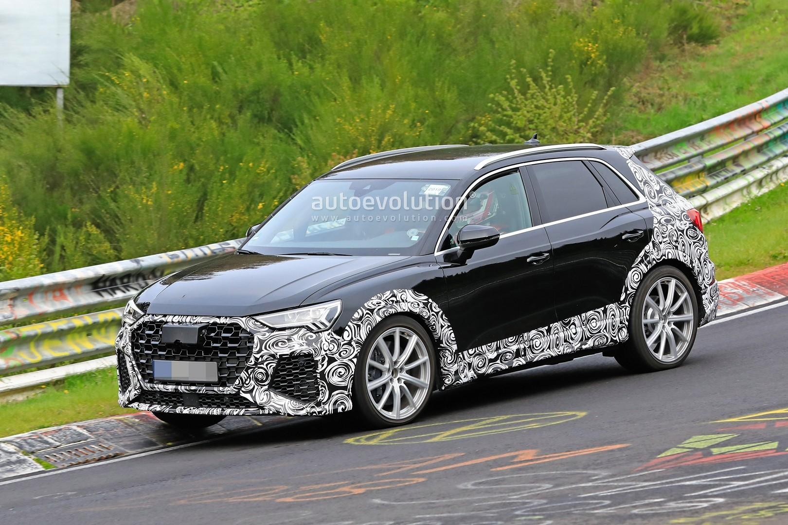Black 2020 Audi Rs Q3 Spied At The Nurburgring Looks Menacing