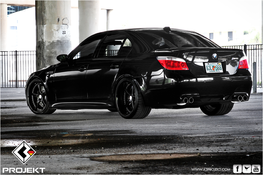 Black Bmw E60 M5 Is A Gangster Car Autoevolution