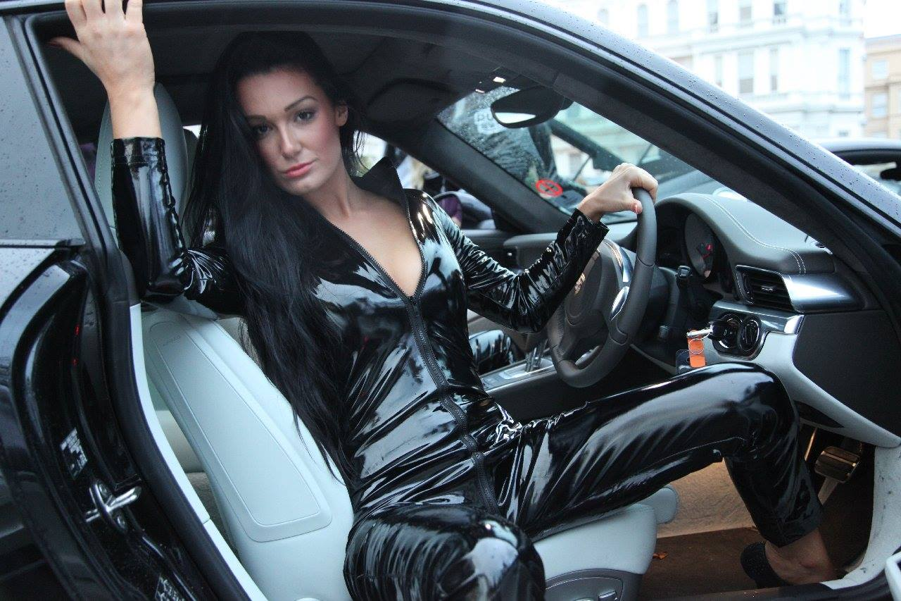 Black Leather-Clad Hotties Promote Supercar Rally ...