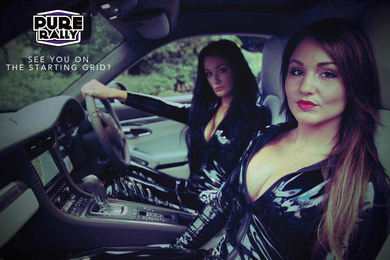 Black Leather Clad Hotties Promote Supercar Rally Photo Gallery on Audi A4 Engine
