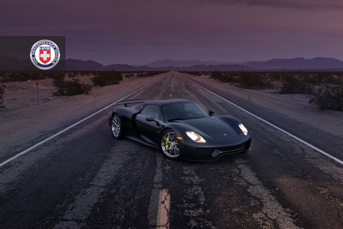 Black Porsche 918 Spyder With Weissach Pack Gets Hre Wheels
