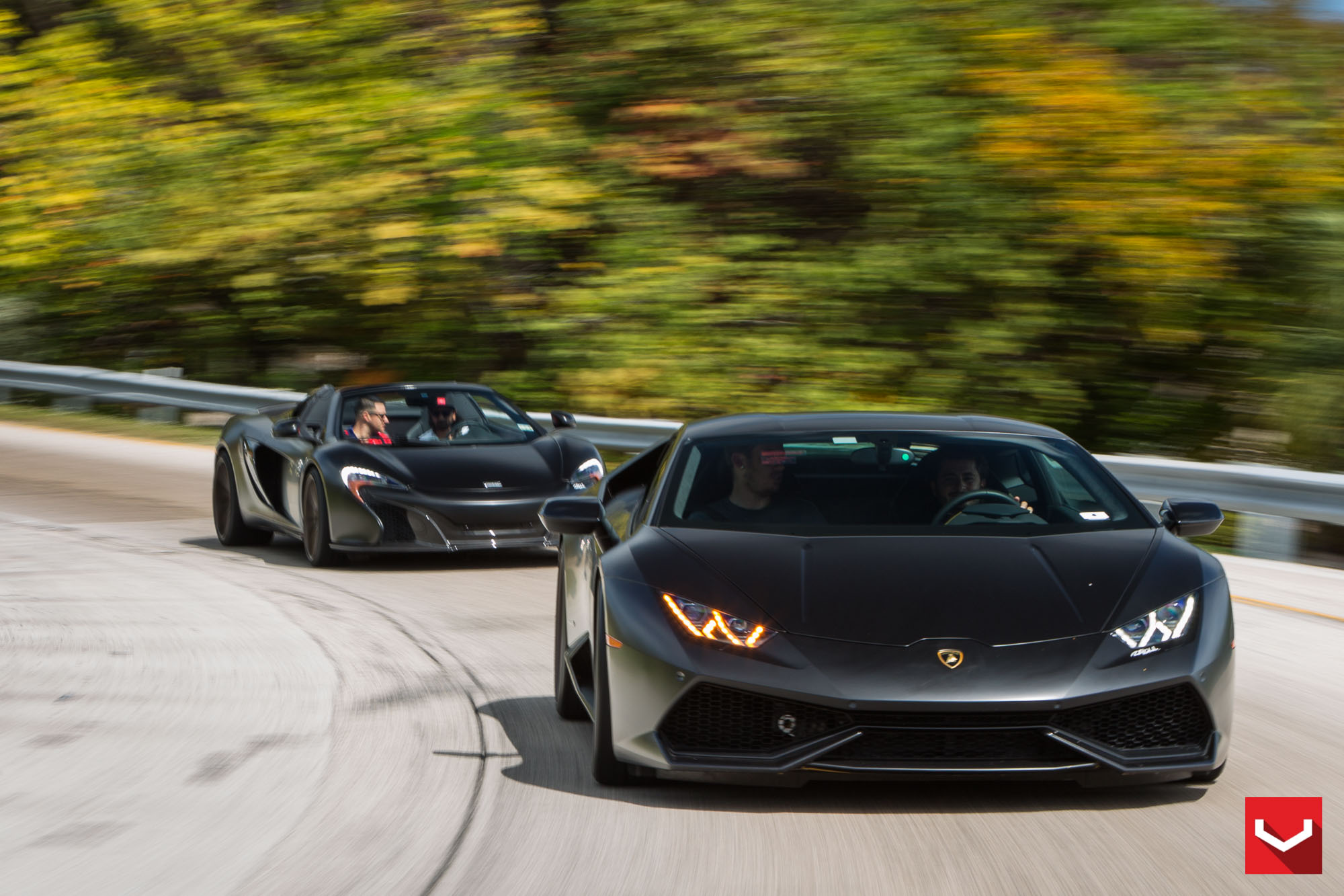 blackskullz lamborghini huracan and mclaren 650s on vossen forged wheels