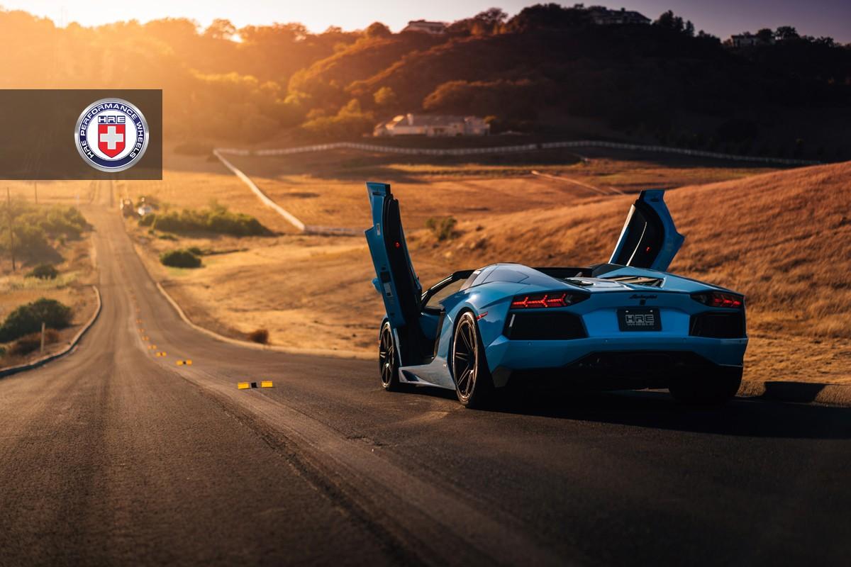 Lamborghini Aventador Roadster на дисках HRE RS101
