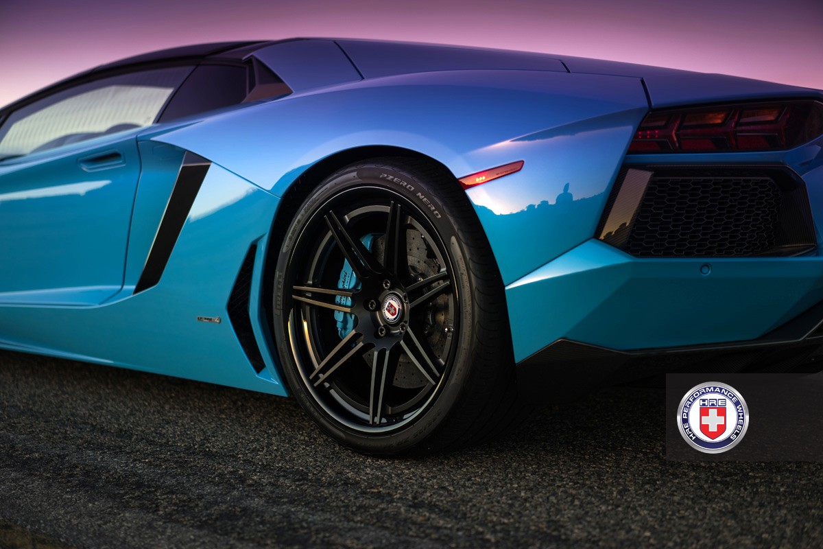 Blue Aventador Roadster On Hre Wheels Is All You Could Ask