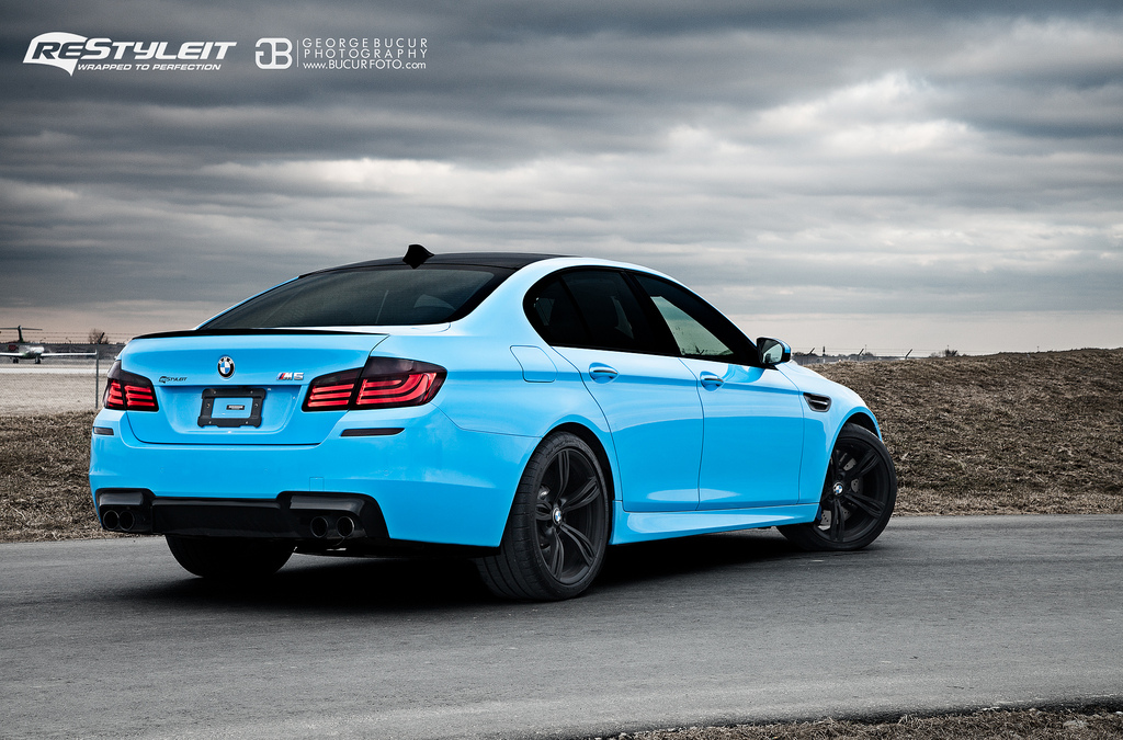 Blue Bmw F10 M5 Wrap From Restyle It Autoevolution