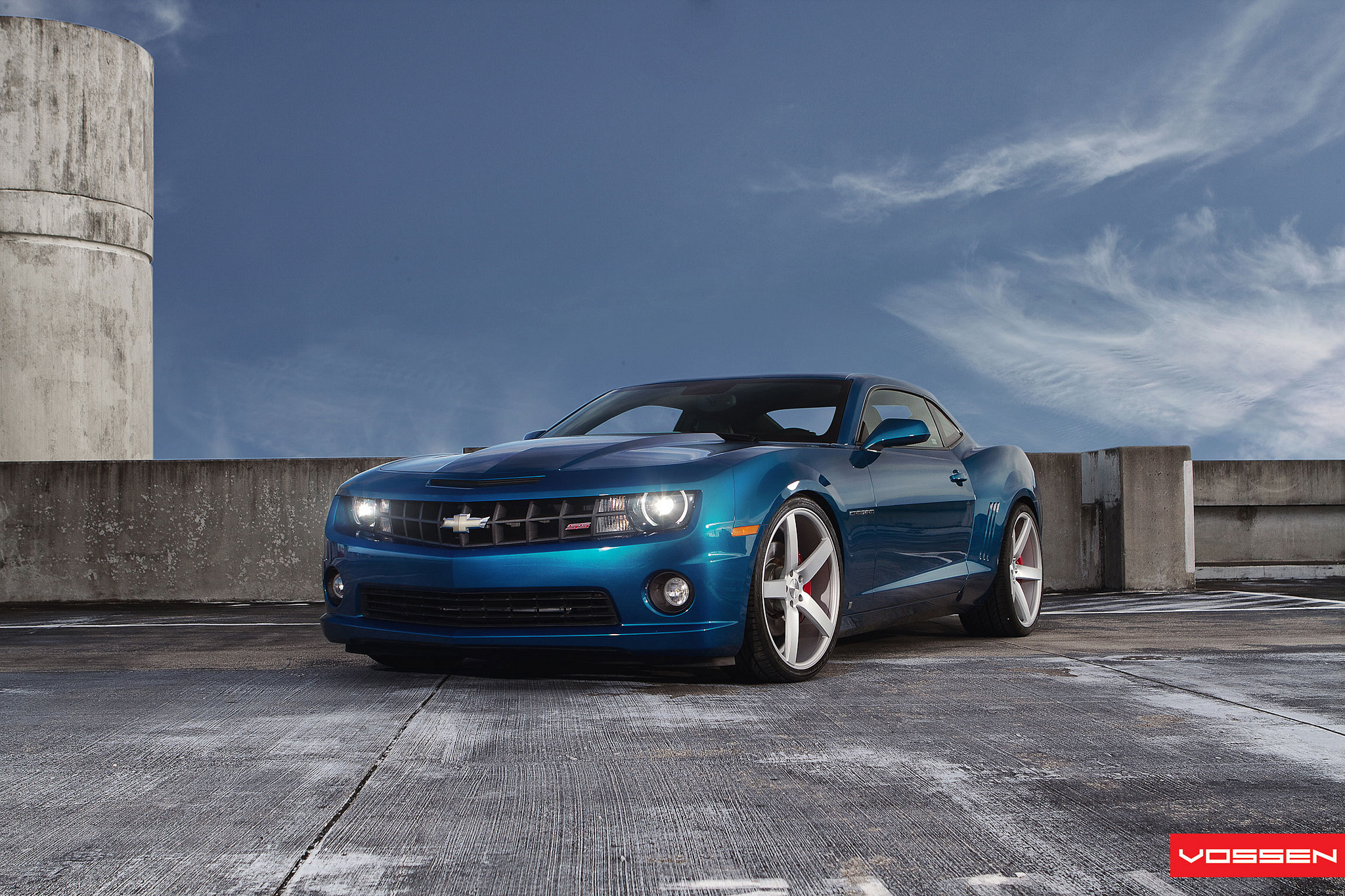 Blue Camaro Ss On Inch Concave Wheels Photo Gallery
