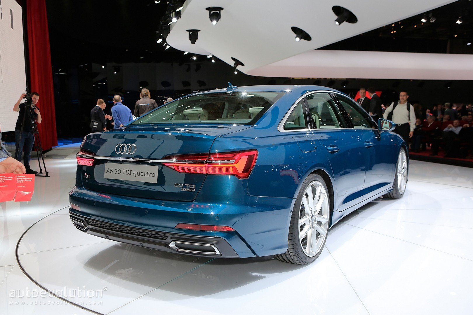 blue is the right color for 2019 audi a6 in geneva autoevolution. Black Bedroom Furniture Sets. Home Design Ideas