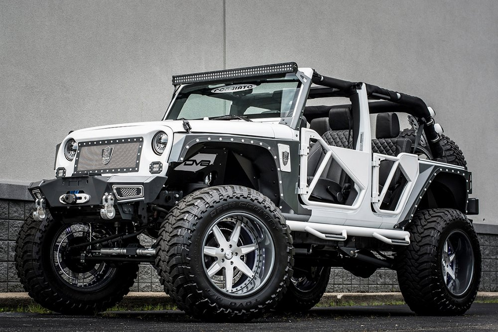 Bms Jeep Wrangler With Forgiato Wheels Is Called Quot Betty