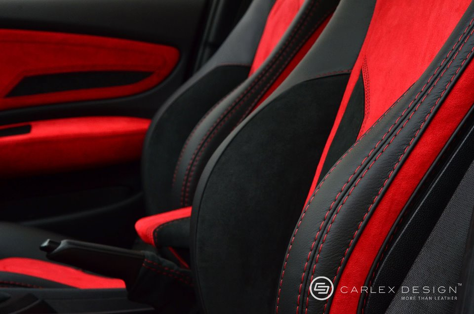 bmw 1 series red and black interior by carlex autoevolution. Black Bedroom Furniture Sets. Home Design Ideas