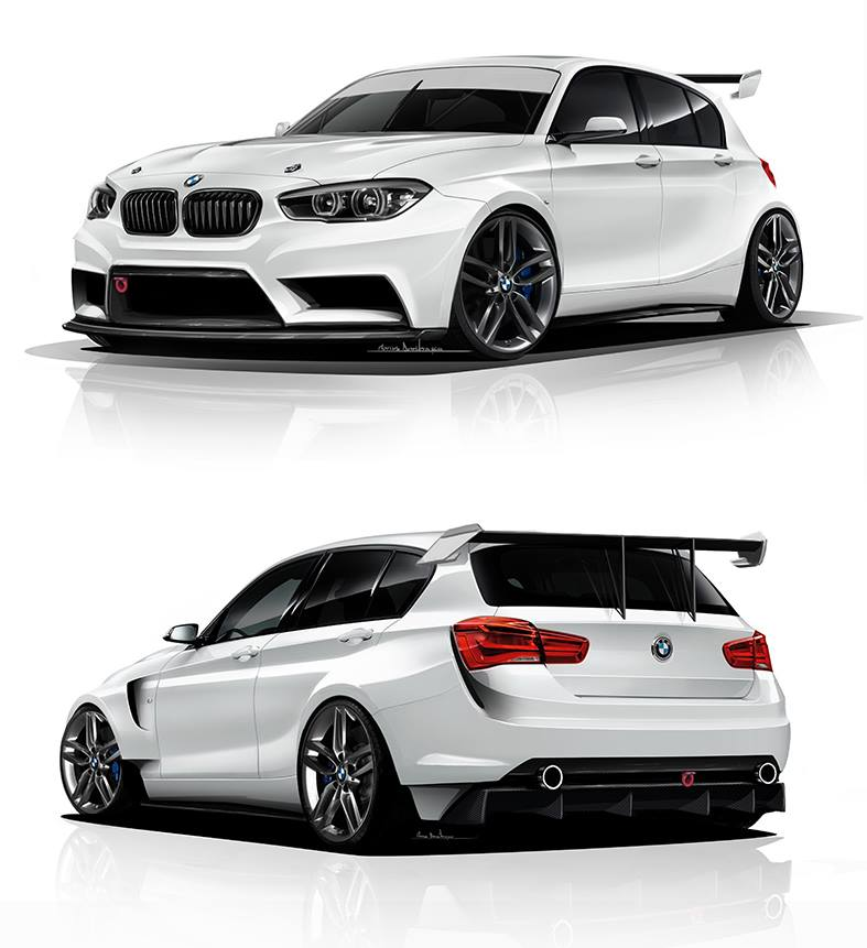 Bmw 1 Series Rendered As Proper Racing Car By Adf Motorsport Autoevolution