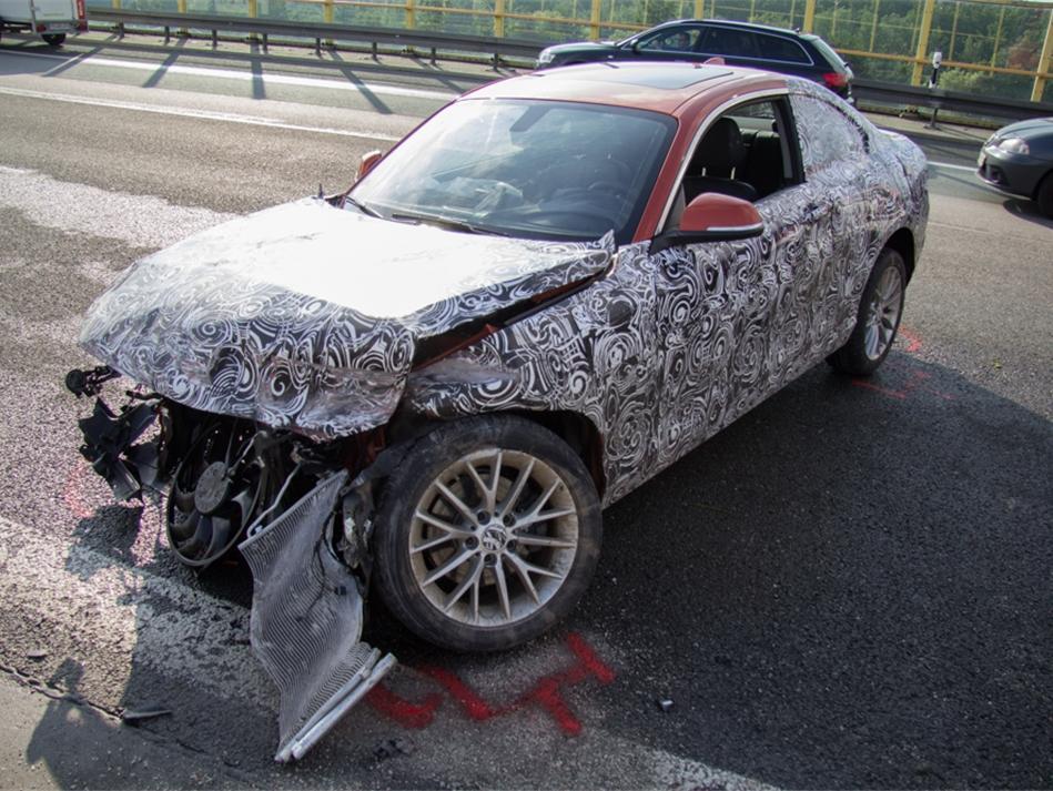 Bmw 2 Series Prototype High Speed Crash Has Autobahn