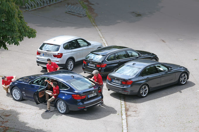 BMW 3 Series GT vs Touring Vs Sedan vs X3 Comparison by auto motor und sport - autoevolution
