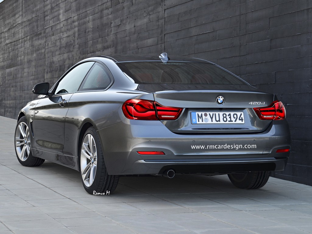 Bmw 4 series coupe facelift rendering