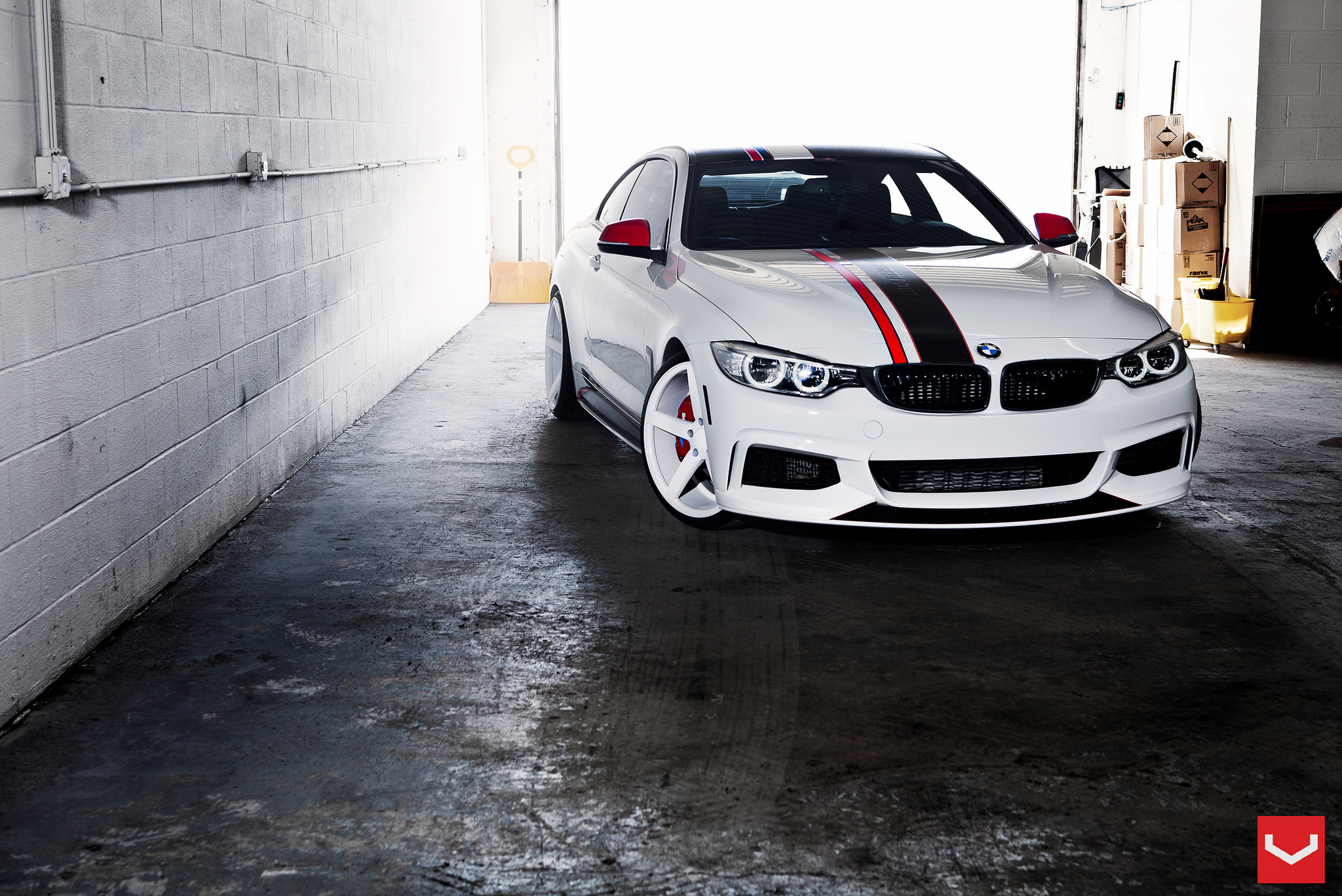 Bmw 4 series coupe with white wheels is extreme but good looking autoevolution