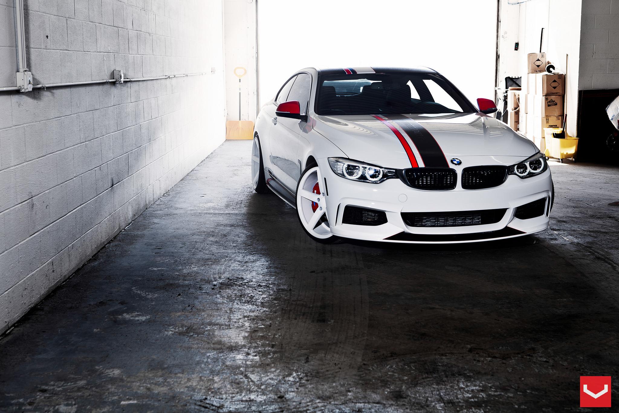 BMW 435i On White Vossen CV3 Wheels